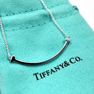 Tiffany & Co. Silver Small Smile Necklace